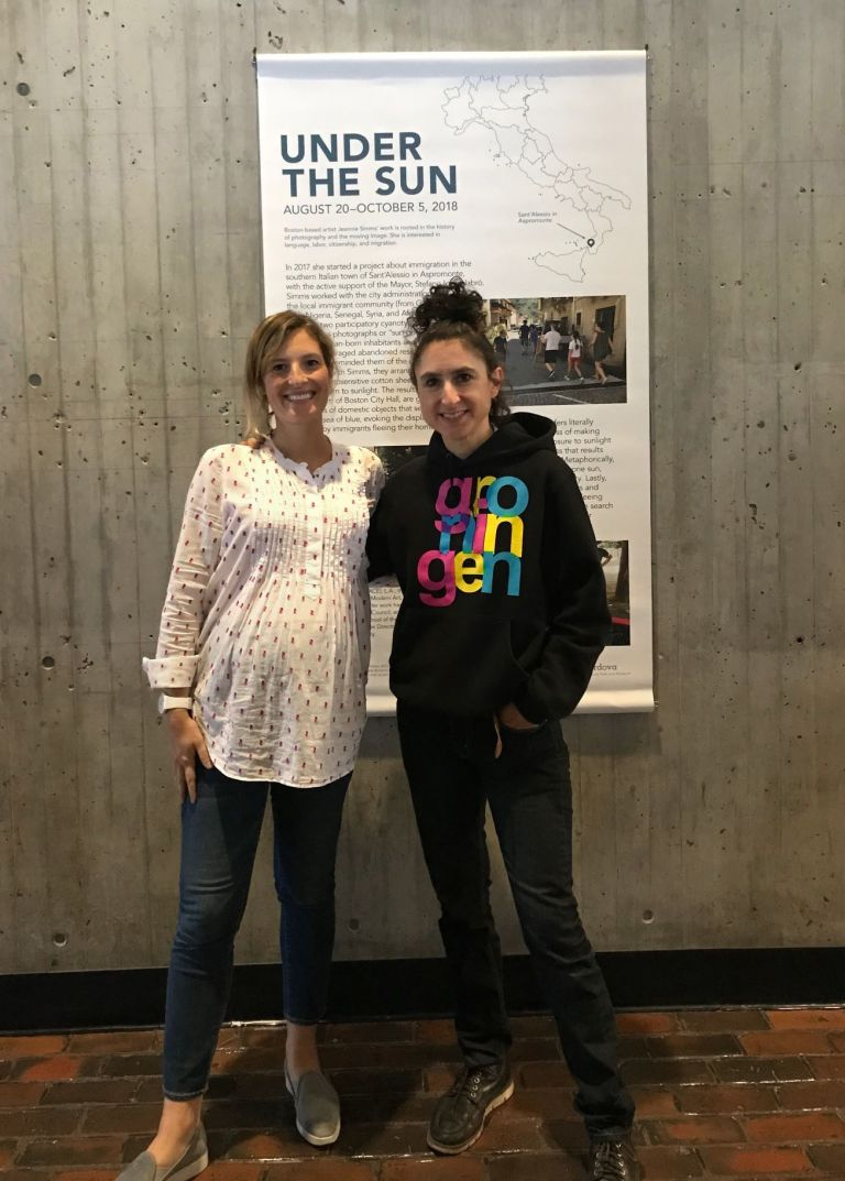 deCordova Curatorial Fellow Martina Tanga with Jeannie Simms at City Hall August 2018